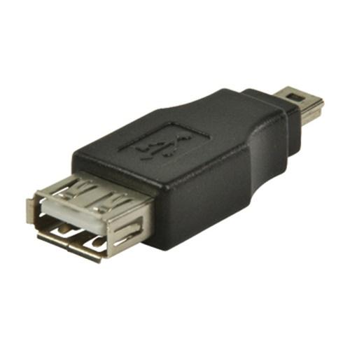 Αντάπτορας USB 2.0 A θηλυκό -> USB mini 5pin αρσενικό CCGP60902BK Nedis