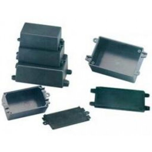 Κουτί πλαστικό IP65 72x44x27mm μαύρο G1017 Gainta