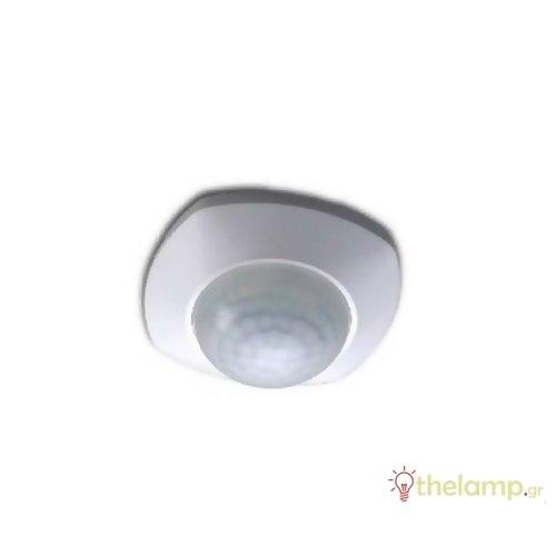 Ανιχνευτής κίνησης οροφής χωνευτός λευκός 2000W 230V 360° SP016 IP20