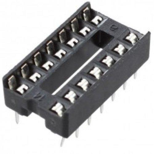 Βάση IC PCB DIP 14pin 7.62mm 2.54mm Στενή Απλή XINYA