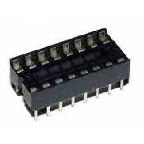 Βάση IC PCB DIP 16pin 7.62mm 2.54mm Στενή Απλή XINYA