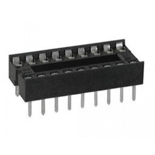 Βάση IC PCB DIP 20pin 7.62mm 2.54mm Στενή Απλή XINYA