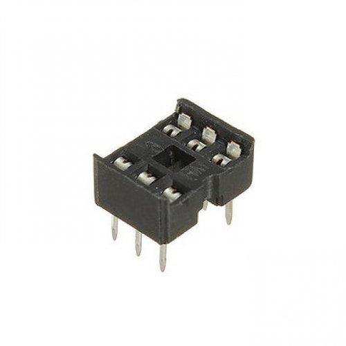 Βάση IC PCB DIP 6pin 7.62mm 2.54mm Στενή Απλή XINYA