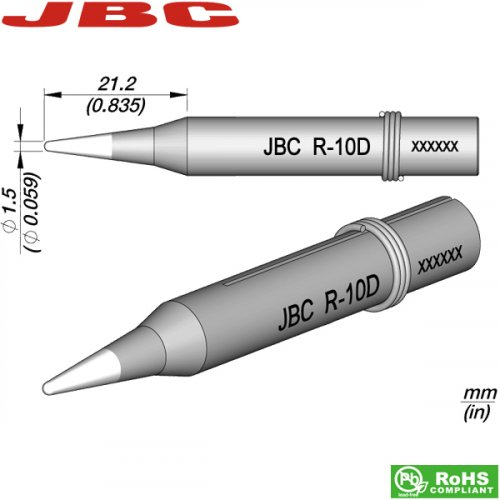 Μύτη κολλητηριού 1.5mm R-10D JBC