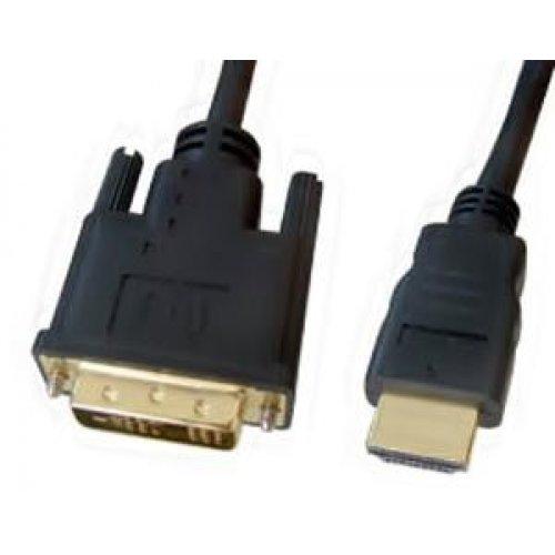 Καλώδιο HDMI -> DVI-I 18+1 5m μαύρο επίχρυσο Lancom