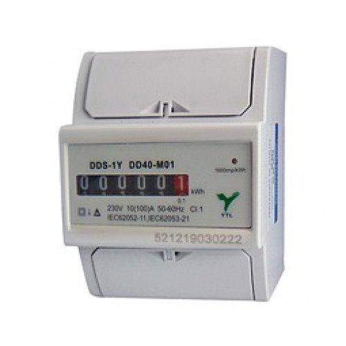 Κιλοβατοωρόμετρο ράγας αναλογικό 1 φάση 10-100A DD40-M01