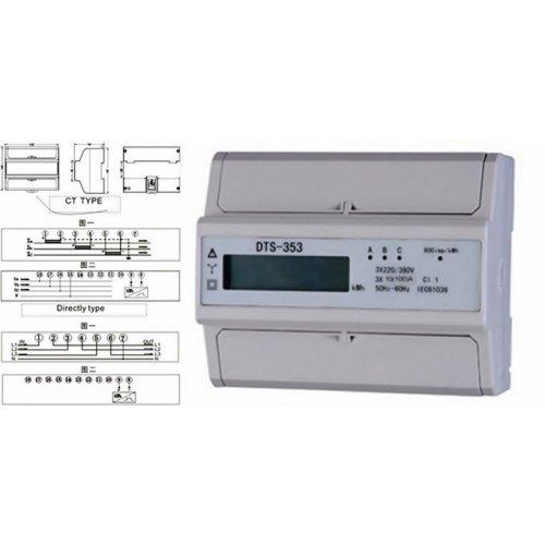 Κιλοβατοωρόμετρο ράγας ψηφιακό 3 φάσεων 5-100A DTG0-L01