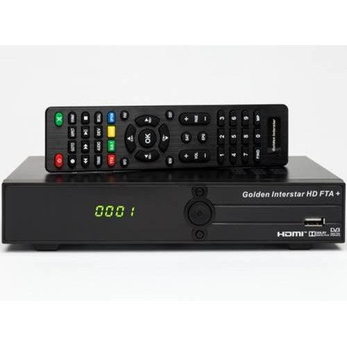 Δέκτης SAT DVB-S/S2 HD FTA+ Golden Interstar
