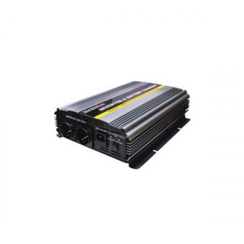 Inverter 24V->230V 1500W Τροποποιημένο Ημίτονο Με Φορτιστή PIC-1500W Marxon