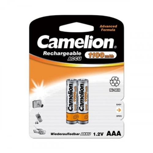 Μπαταρία επαναφορτιζόμενη R03 AAA 1.2V 1100mAh Νi-Mh BL2pcs Camelion