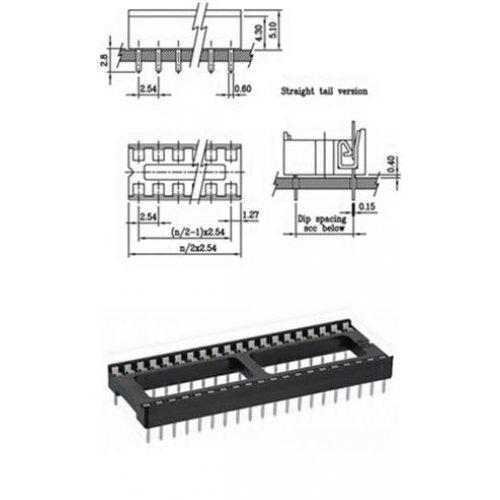Βάση IC PCB DIP 32pin 15.24mm 2.54mm Απλή XINYA