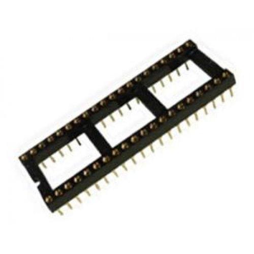 Βάση IC PCB DIP 40pin 15.24mm 2.54mm επίχρυση connfly