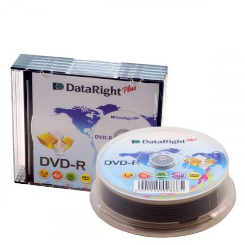 DVD-R Dataright 4x1.4GB 8CM slim case cameras
