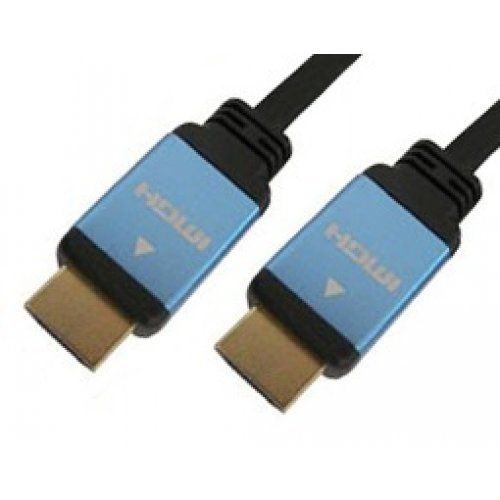 Καλώδιο HDMI αρσενικό -> HDMI αρσενικό + high speed 2m 1.4v χρυσό CMP