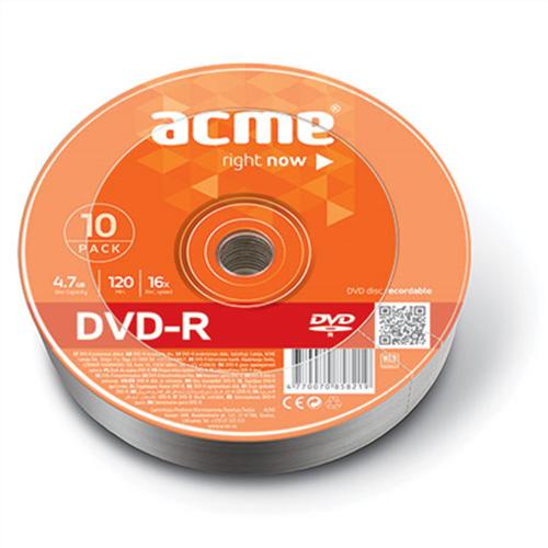 DVD-R 4.7GB 16x κουτί 10pcs Acme