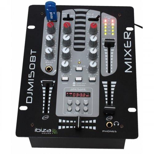 Μίκτης ήχου 2 καναλιών USB/Bluetooth DJM150USB Ibiza Sound
