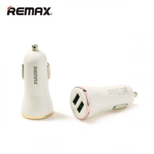 Τροφοδοτικό αυτοκινήτου 12-24V DC In -> 2 x USB A Out 5V 2.4A RCC206 Remax