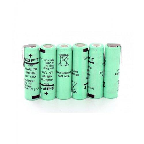 Μπαταρία pack 6 pcs x 1.2V AAA 7.2V 700mAh Ni-Mh με λαμάκι Code S SAFT