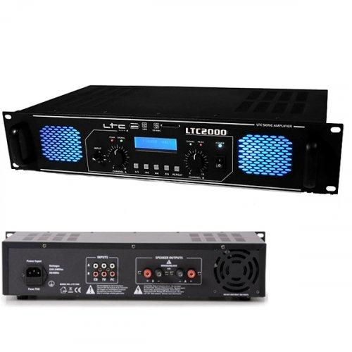 Ενισχυτής ήχου τελικός PA 2x1000W LTC-2000  LTC Audio