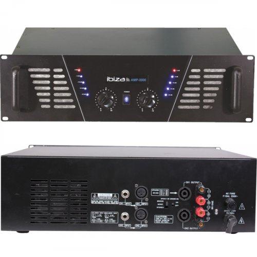 Ενισχυτής ήχου τελικός PA 2x1000W AMP2000 Ibiza Sound