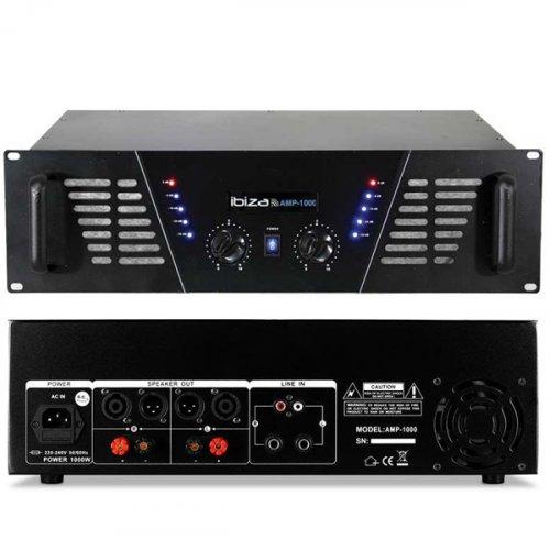 Ενισχυτής ήχου τελικός PA 2x800W AMP1000 Ibiza Sound