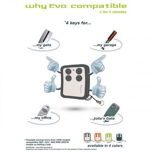 Τηλεχειριστήριο 280-433-868 AM/FM + Rolling code 433-868 ΜΗΖ Why-Evo