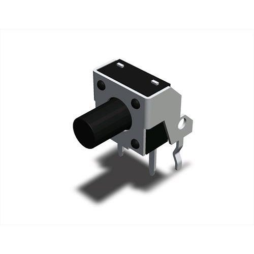 Tact switch 6x6x5mm 2pin γωνία 180gF THDP08-050BB