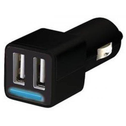 Τροφοδοτικό αυτοκινήτου 12V DC In -> 2 x USB A Out 5V 4.8A MW3399-1 Minwa