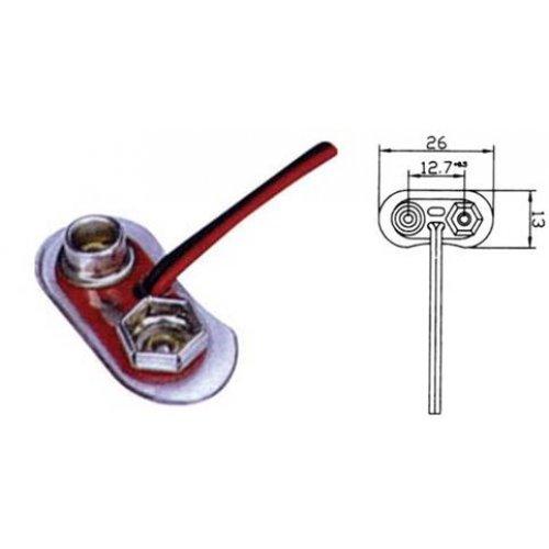 Κλιπ μπαταριών 9V με καλώδιο BH0043