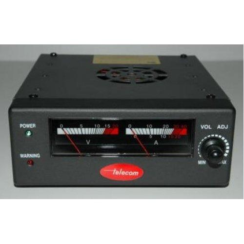 Τροφοδοτικό 230V->9-16VDC 20A Switching ρυθμιζόμενο πάγκου AV-825-NF Telecom