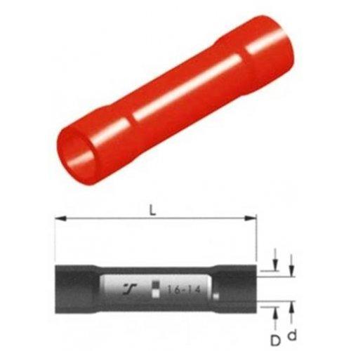 Ακροδέκτης σύνδεσμος κόκκινος θηλυκός με μόνωση BC1V 1.5mm