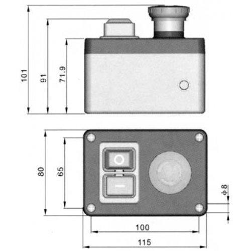 Διακόπτης ηλεκτρομαγνητικός 0-1 16A με STOP σε κουτί KJD17B-D-2 Kedu