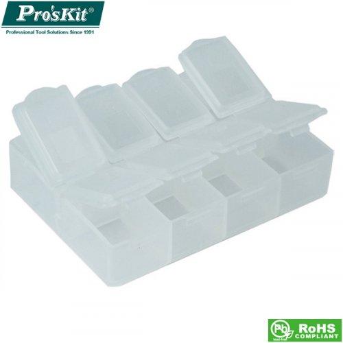 Κουτί πλαστικό με χωρίσματα 76x61x21mm 903-133s Proskit