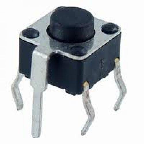 Tact switch 6x6x5.0mm 4pin 160gr με γείωση TVDP02