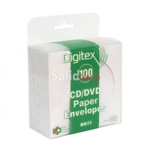 Θήκη Φακελάκι CD Χάρτινο Λευκό 100 Τεμάχια Digitex