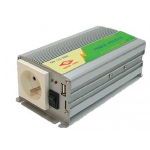Inverter 12V->230V 300W τροποποιημένου ημιτόνου MWI-300 Genious Power