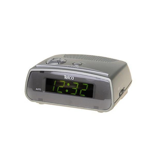 Ρολόι ξυπνητήρι 230V AC LED GREEN 203-AV