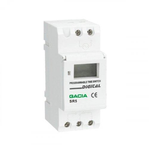 Χρονοδιακόπτης ράγας ψηφιακός ημερήσιος - εβδομαδιαίος SR5 GACIA