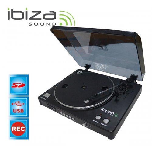 Pickup Turntable Deck με Εγγραφή Μέσω USB/SD LP300 Ibiza Sound
