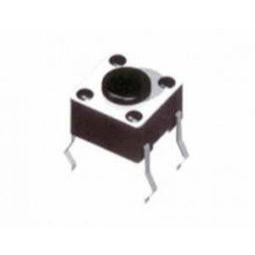 Tact switch 6x6x7mm 2pins 100g 1105BYM