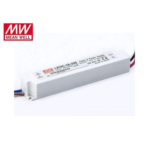 Τροφοδοτικό Led 230V IN -> OUT 6-48VDC 18W 500mA IP67 LPHC18-350 Mean Well