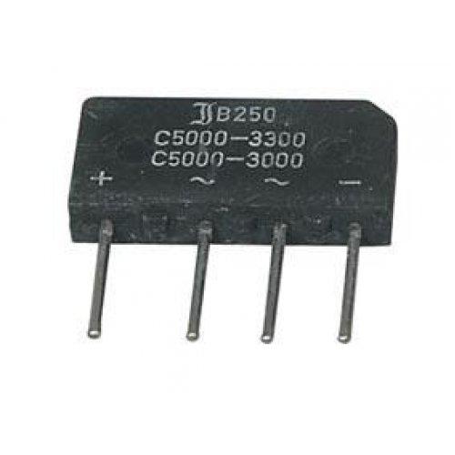 Γέφυρα πλακέ 5A/250V RS505 (B250C5000)