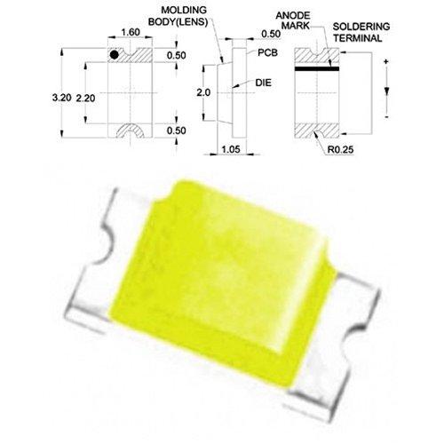 LED SMD 1206 ΚΙΤΡΙΝΟ 140* 6-17mcd TO-3216BC-YC