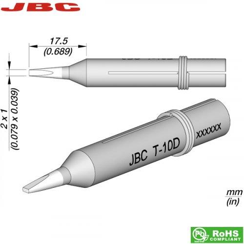 Μύτη κολλητηριού 2x1mm Τ-10D JBC