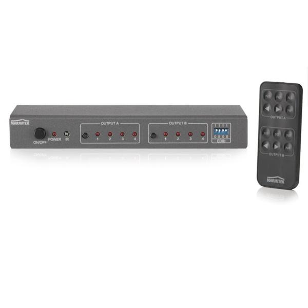 Matrix 4 In x 2 Out HDMI Switch Video FullHD Connect 540 UHD Marmitek