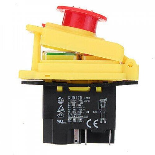 Διακόπτης ηλεκτρομαγνητικός 0-1 16A stop cap KJD17B-GF Kedu