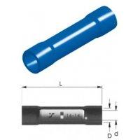 Ακροδέκτης σύνδεσμος μπλε θηλυκός με μόνωση BC2V 2.5mm