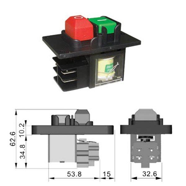 Διακόπτης ηλεκτρομαγνητικός 0-1 16A KJD12 Kedu