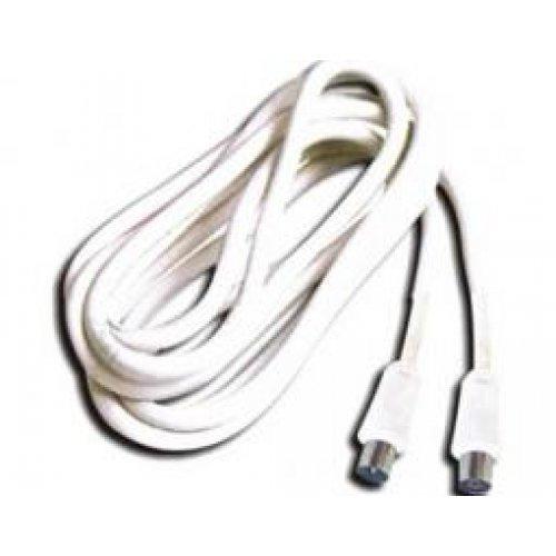 Καλώδιο RF TV αρσενικό -> θηλυκό 1.5m λευκό RC065