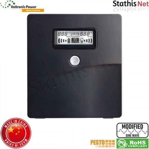 UPS line interactive 1000VA τροποποιημένου ημιτόνου LA-VST-1K LCD BK Voltronic